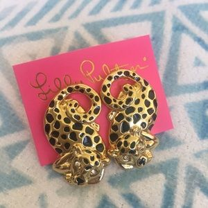Lilly Pulitzer Leopard Earrings